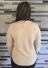 Oatmeal Boat Neck Sweater