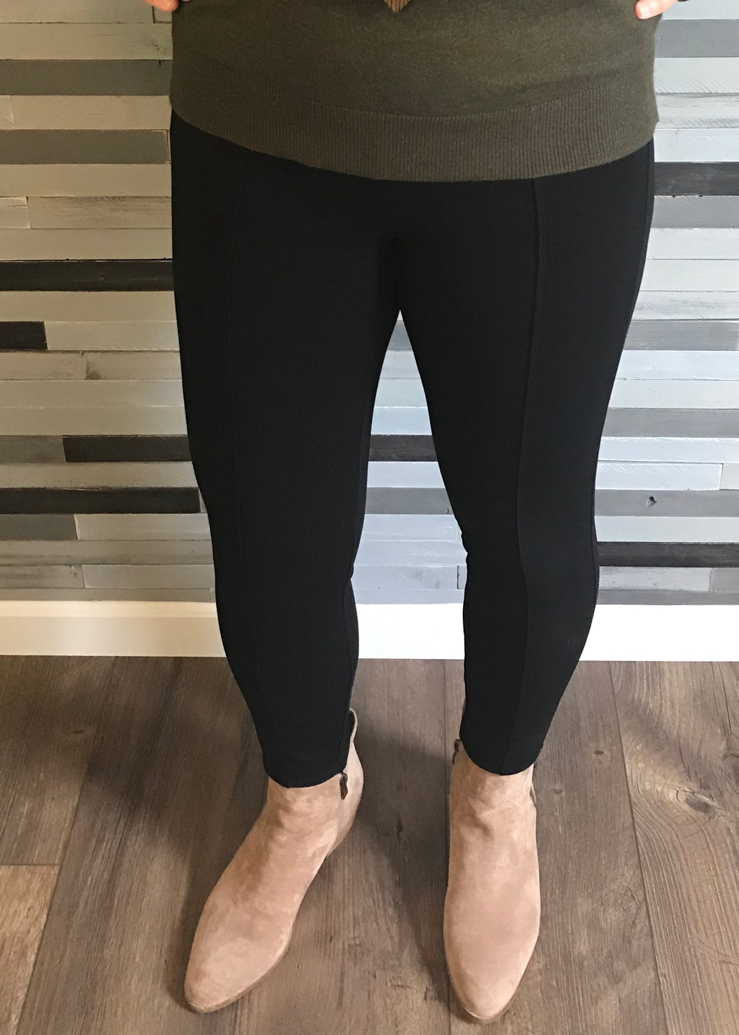 Liverpool Black Reese Seamed Ankle Length Legging