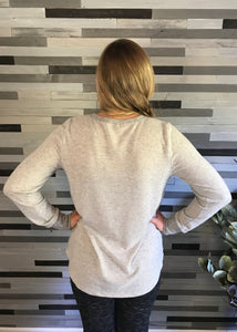 Heather Grey Knit Top