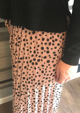 Mauve Spotted Maxi Skirt