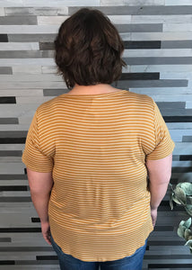 Mustard & Ivory Striped Top