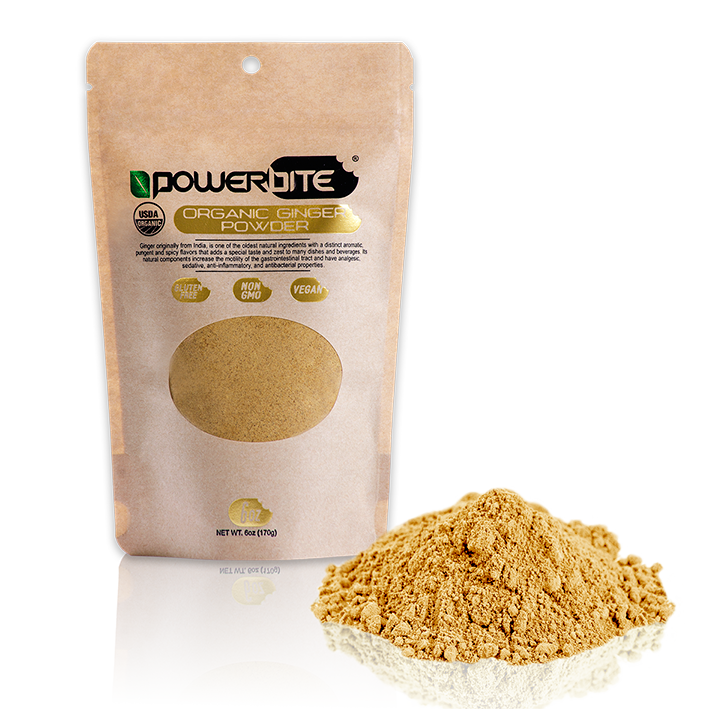 Organic ginger powder & plant offers many nutritional & cerebral benefits.