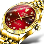 """Datejust 36"" Homage Luminous Watch: Full Gold"