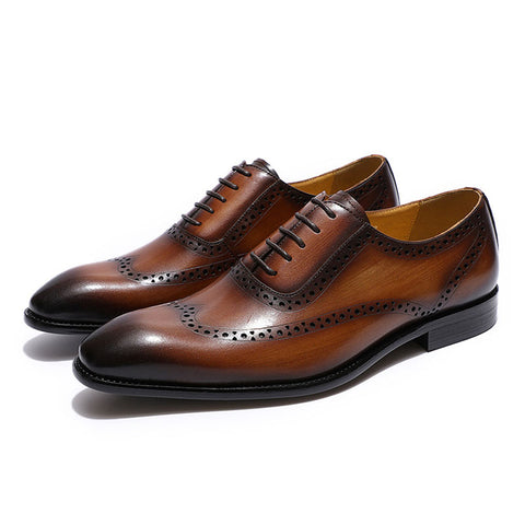 Genuine Leather Wingtip Brogue
