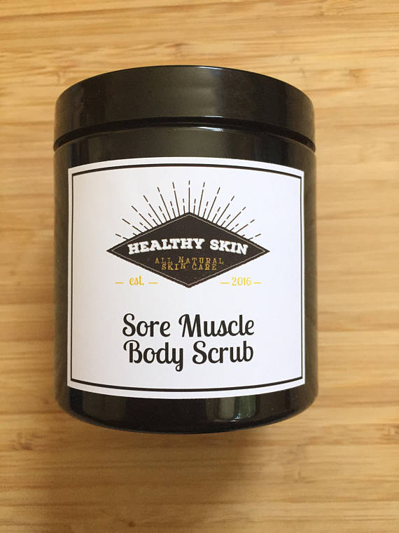SORE MUSCLE BODY SCRUB - with joint relief essential oils