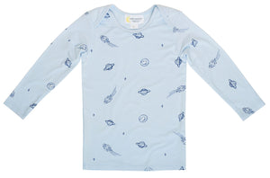 Bamboo Long Sleeve Tee ~ Blue Space