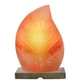 Sculpted Leaf Salt Lamp