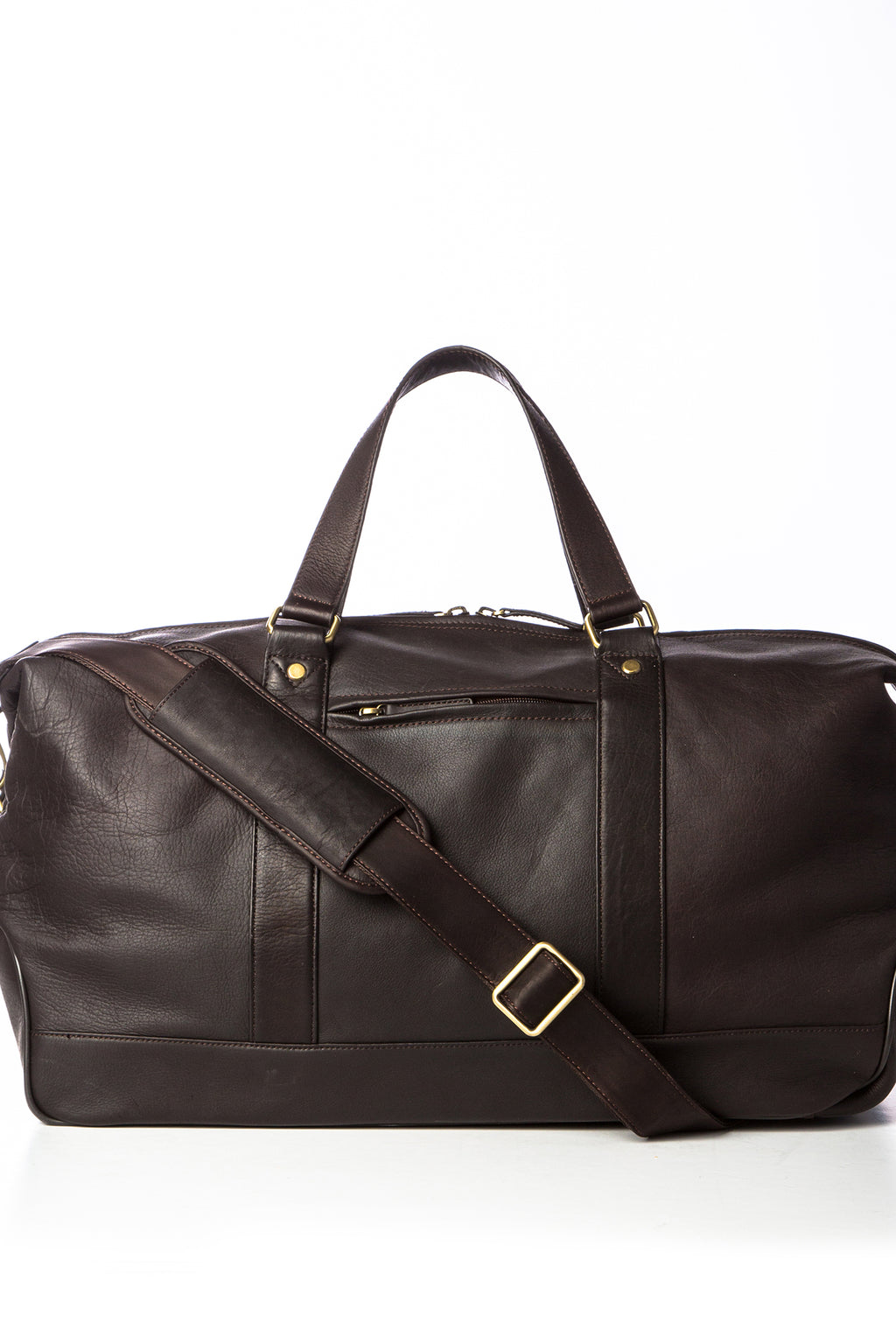 CIPRIANO - Rugged Leather Duffel - Brown