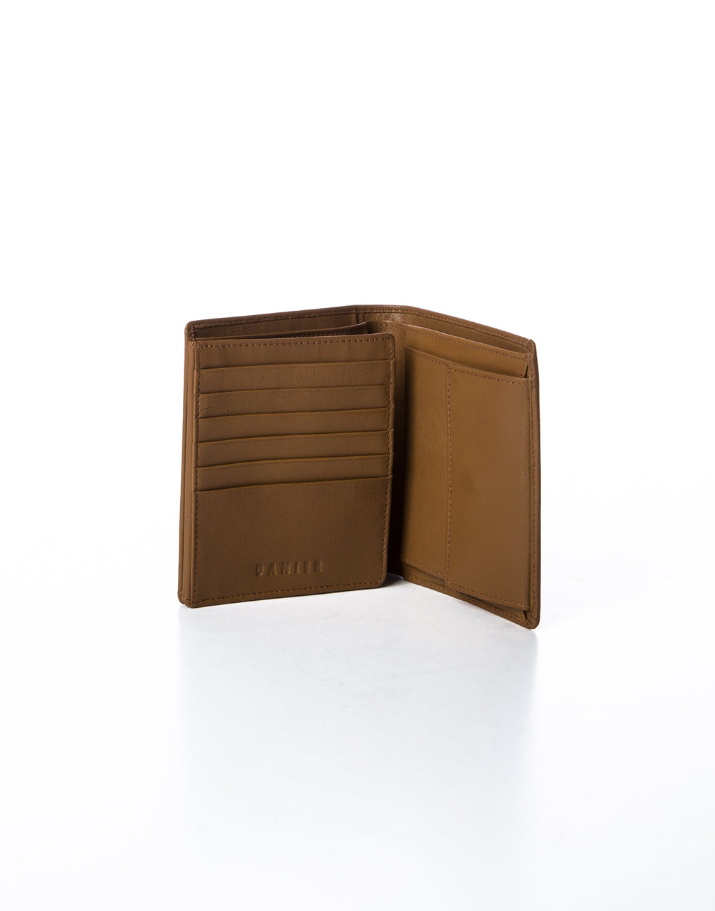 COLOMBO - Leather Tri-Fold Wallet - Cognac