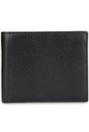 CALINA - Pebbled Leather Perforated Front Wallet - Bordeaux