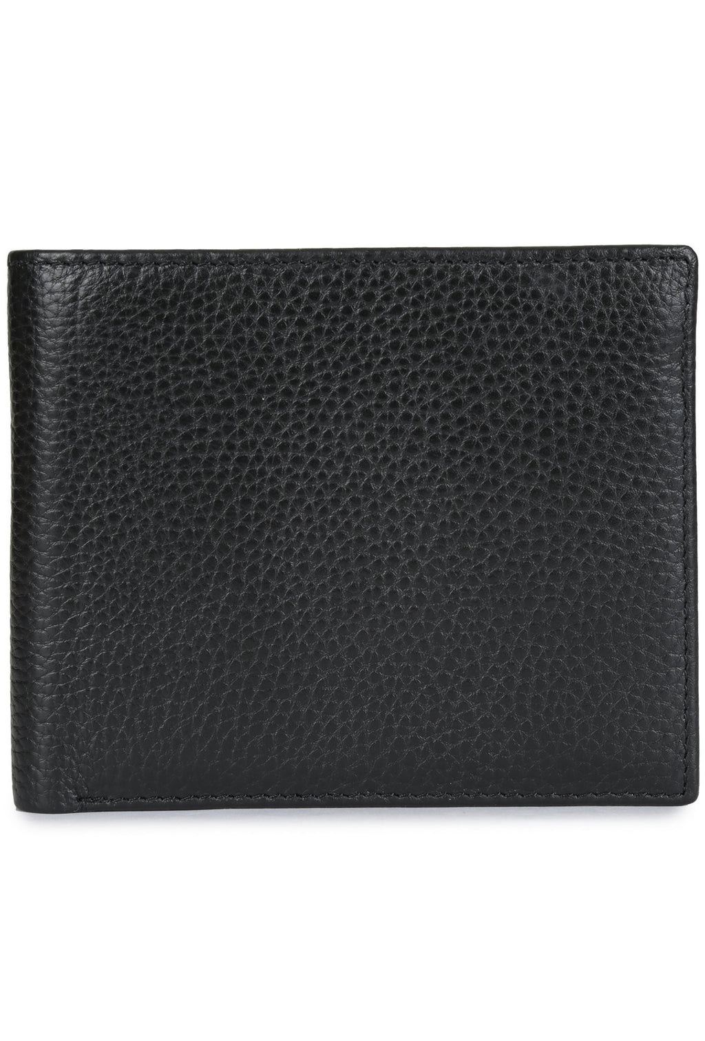 ZANOBI - Pebbled Leather Wallet - Black