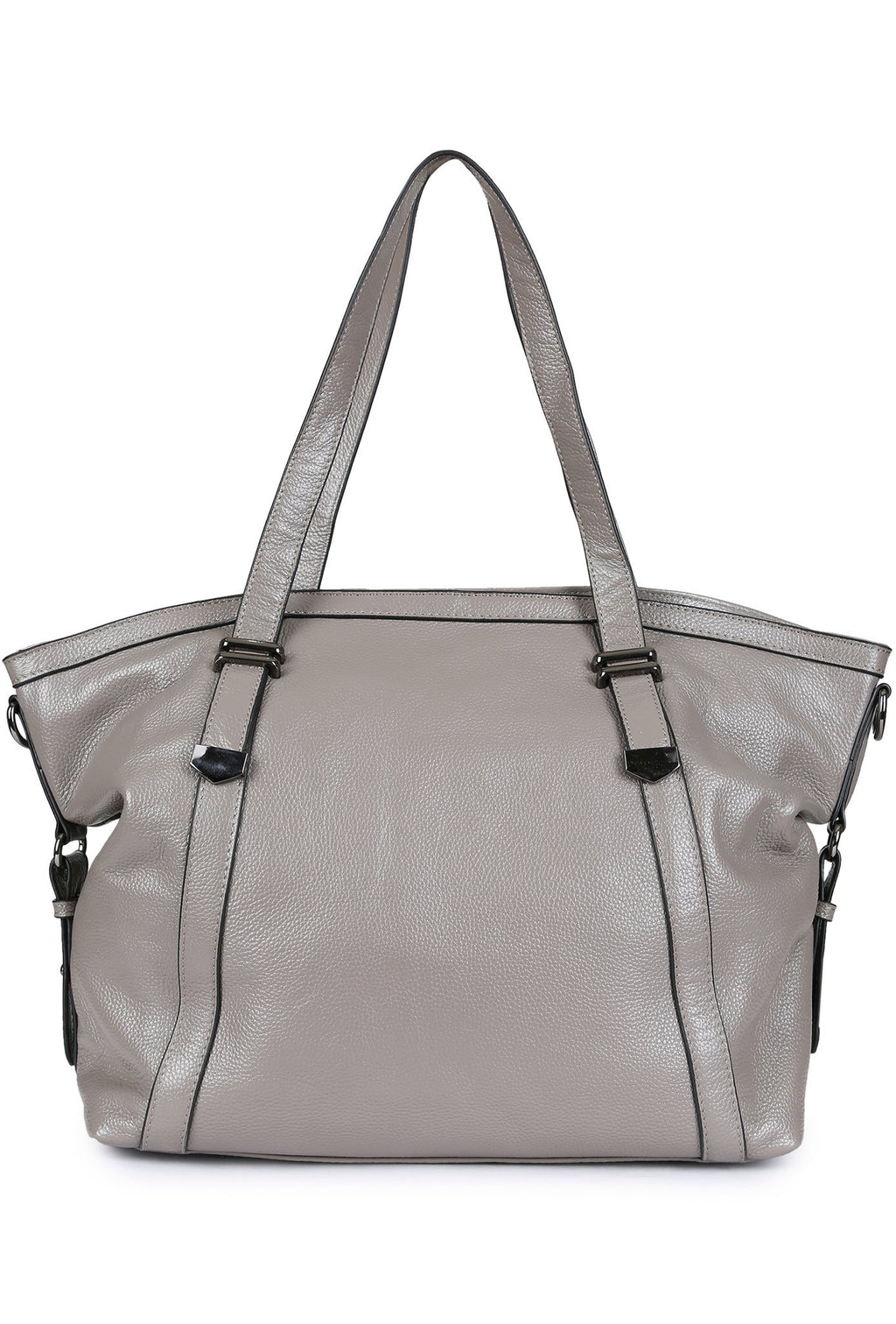 VIKAS - Pebbled Leather Carryall - Grey
