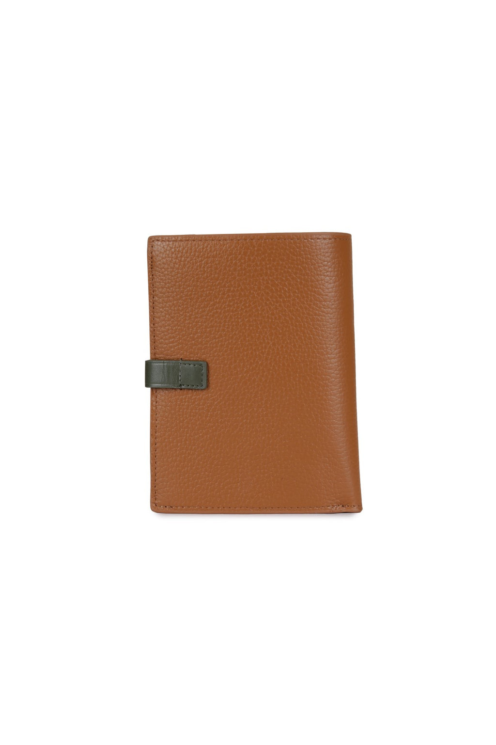 DIYA - Leather Two-Tone Wallet - Tan