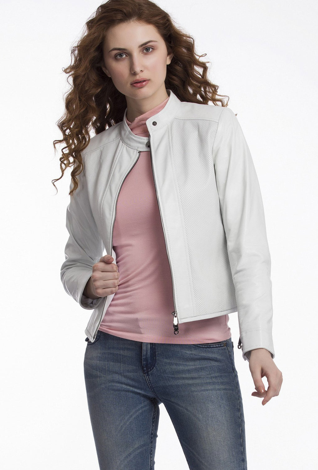 AURORA - Perforated Leather Jacket