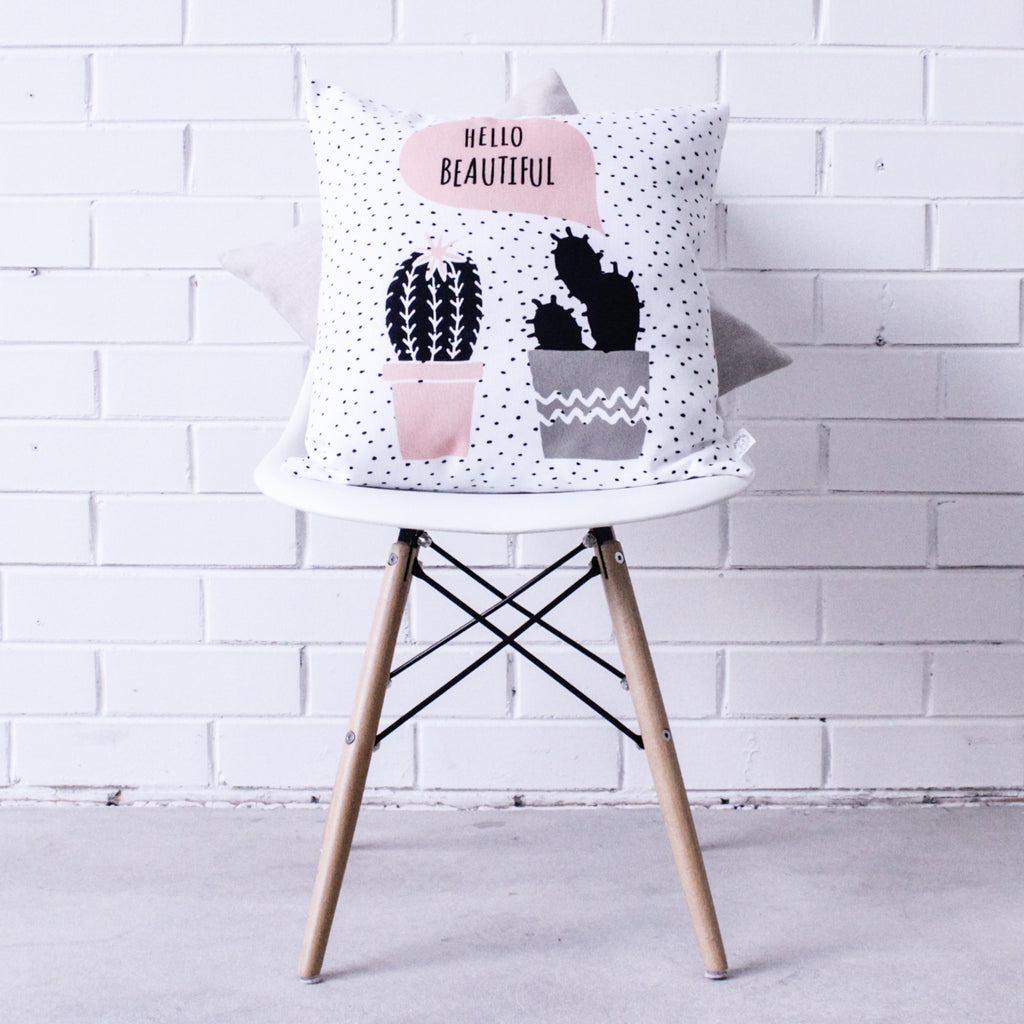 Hello Beautiful Cushion Cover