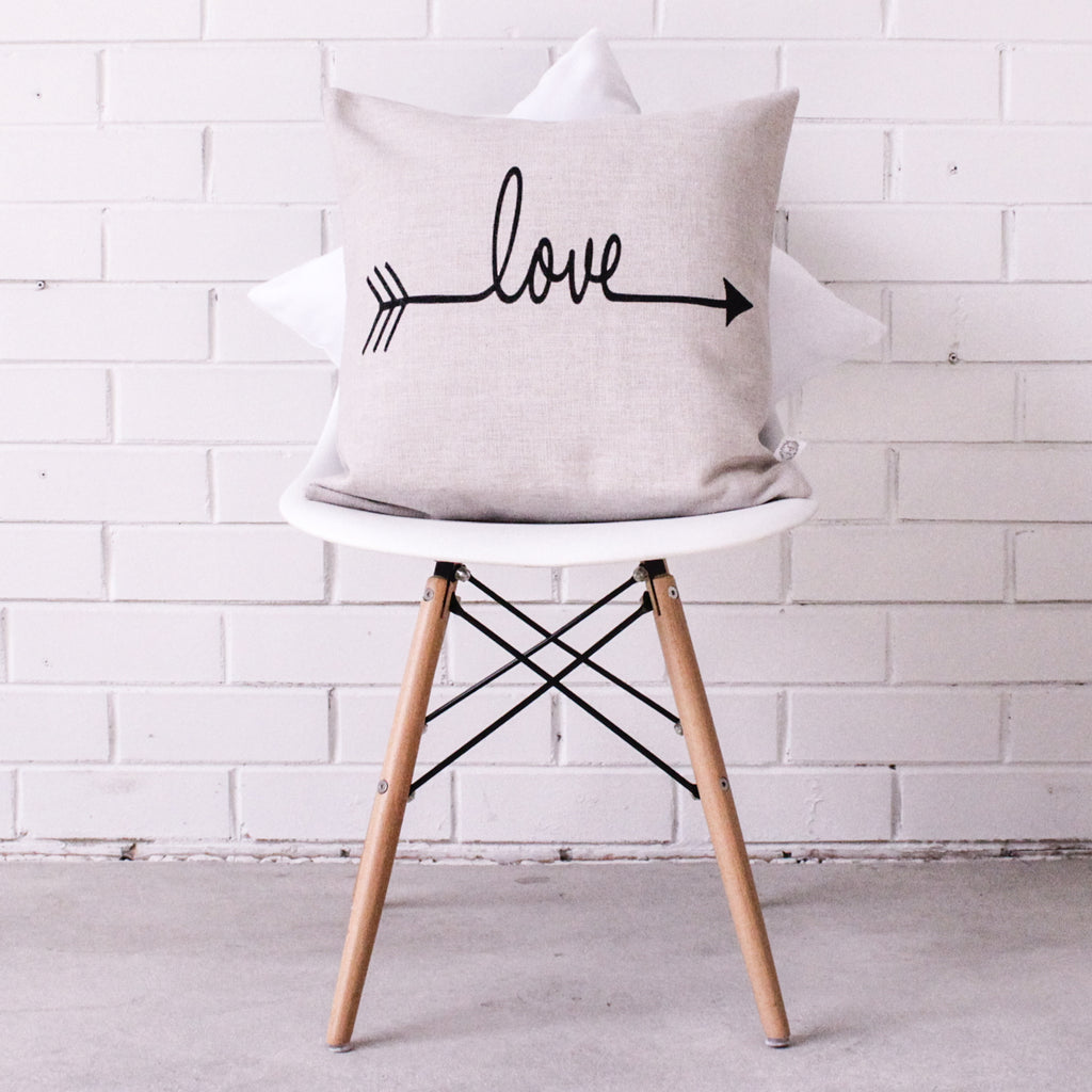 Love (Hessian) Cushion Cover