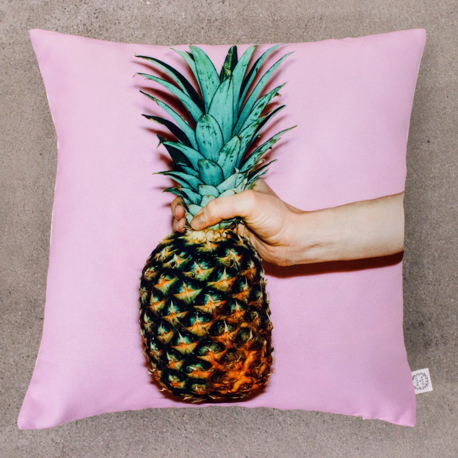 Pink Pineapple Cushion Cover