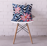 Floral Chervon Cushion Cover