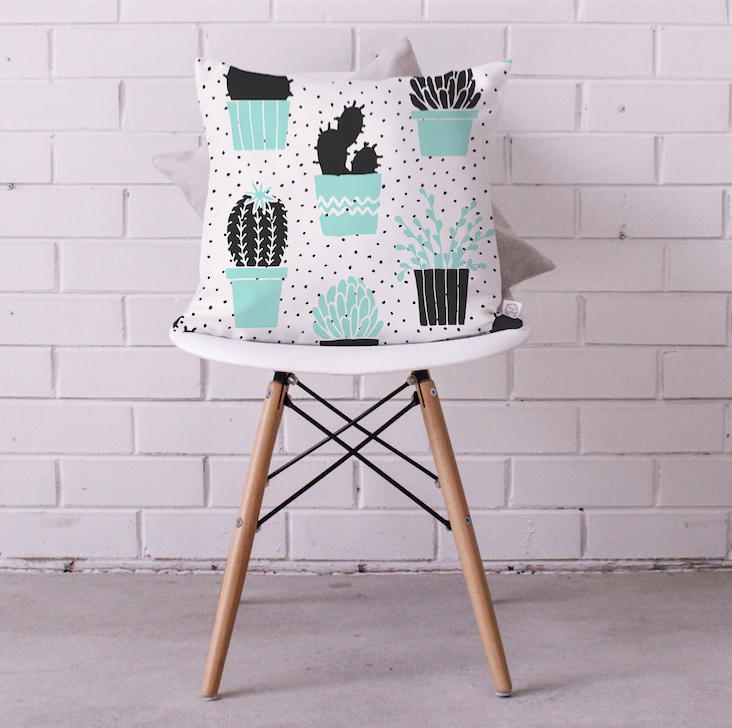 Hello Mr Prickles Cushion Cover
