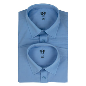 1880 Boys' Blue School Shirt (2 Pk)