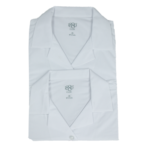 Girls' White Revere Blouse (2 Pk)