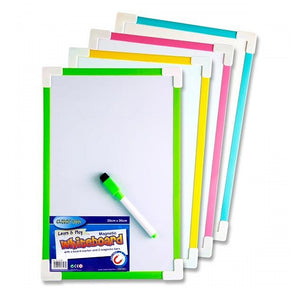 Clever Kids 20 x 30cm Dry Wipe Magnetic Whiteboard