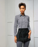 Model wearing the 3 Open Pocket Waist Apron