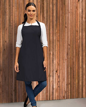 Model wearing the Waterproof Bib Apron