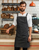Model wearing the Cross Back 'Barista' Bib Apron
