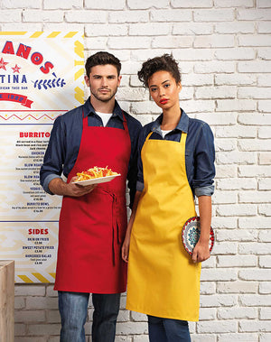 Model wearing the Colours Collection Bib Apron