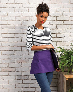 Model wearing the Colours Collection 3 Pocket Apron