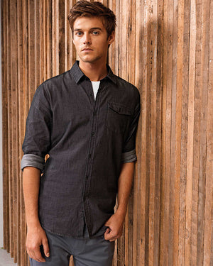 Mens' Jeans Stitch Denim Shirt