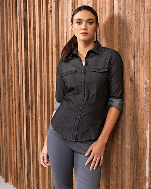 Ladies' Jeans Stitch Denim Shirt