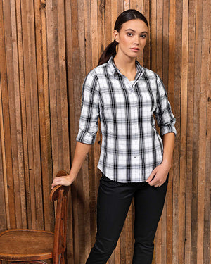 Ladies 'Ginmill' Check Cotton Long Sleeve Shirt