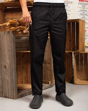 Chef wearing the Chef's Select Slim Leg Trouser