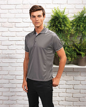 Mens' Contrast Coolchecker Polo