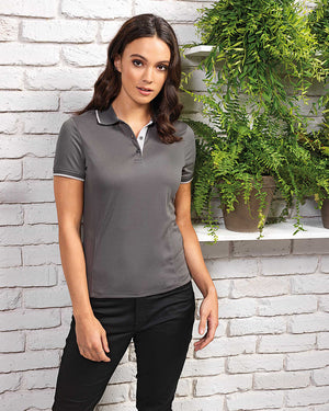 Women's Contrast Coolchecker Polo
