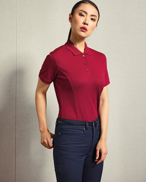 Women's Coolchecker Plus Piqué Polo with CoolPlus