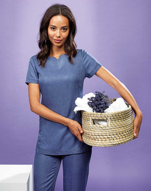 Viola 'Linen Look' Button-up Beauty Tunic