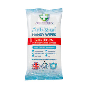 Anti Viral Handy Wipes (15pk)