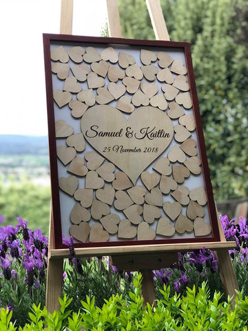 Silver Belle Design - Drop Heart Frame Wedding Guestbook