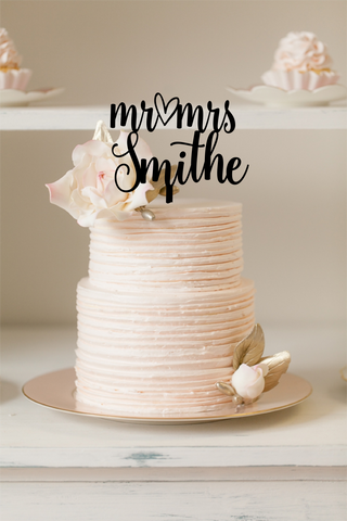 Silver Belle Design - Cake Topper - Cute Heart