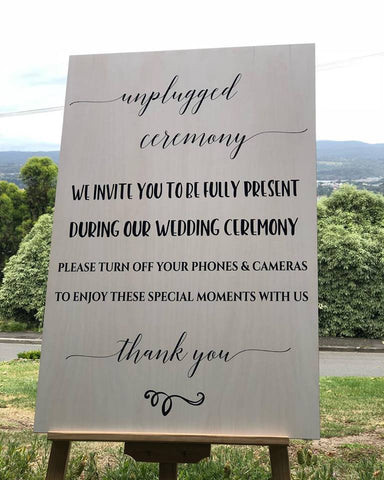 Silver Belle Design - Unplugged Ceremony Sign