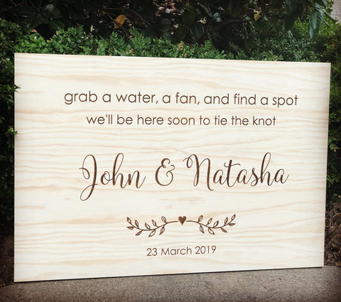 Silver Belle Design - Rustic Wedding Sign