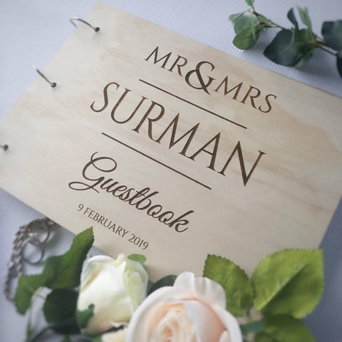 Silver Belle Design - Timber Guestbook