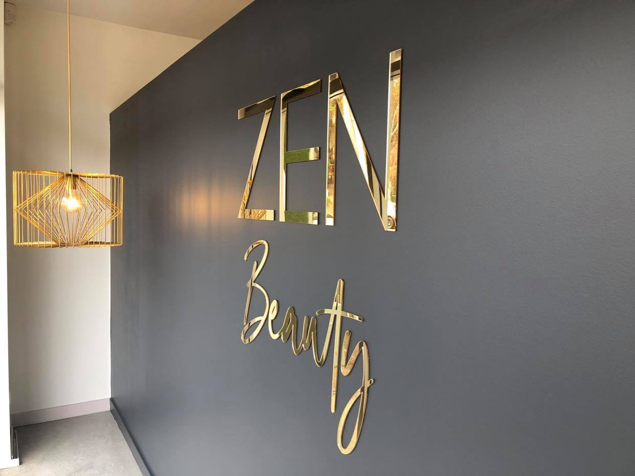 Silver Belle Design - Business Sign - Zen Beauty