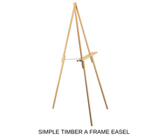 Silver Belle Design - Simple A Frame Easel Hire