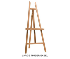 Silver Belle Design - Large Timber Easel Hire