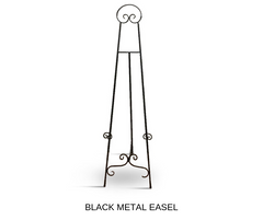 Silver Belle Design - Black Metal Easel Hire