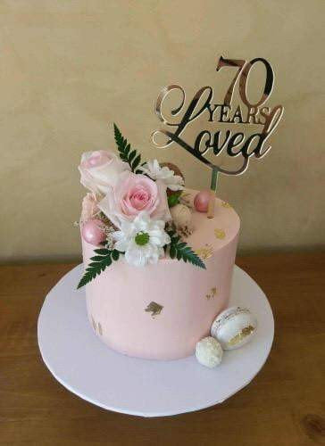 Cake Topper - Years Loved - Silver Belle Design